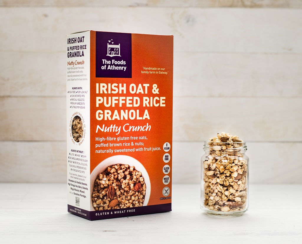 Irish Oat Puffed Rice Nutty Crunch Granola The Foods of Athenry