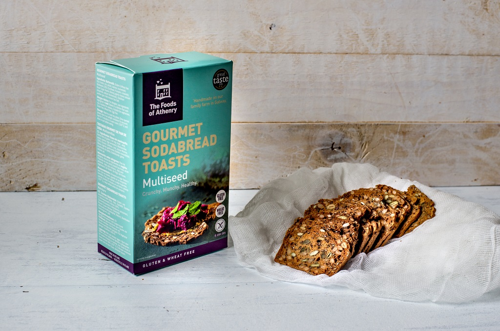 Multiseed Toasts with box The Foods of Athenry www.foodsofathenry.ie