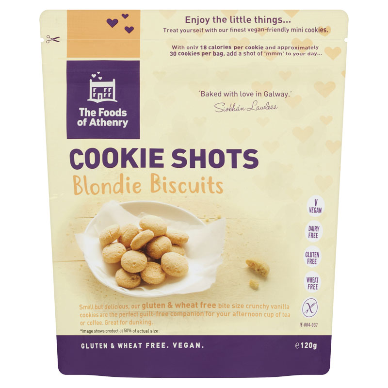 Gluten Free Cookie Shots 'Blondies' - Case of 12