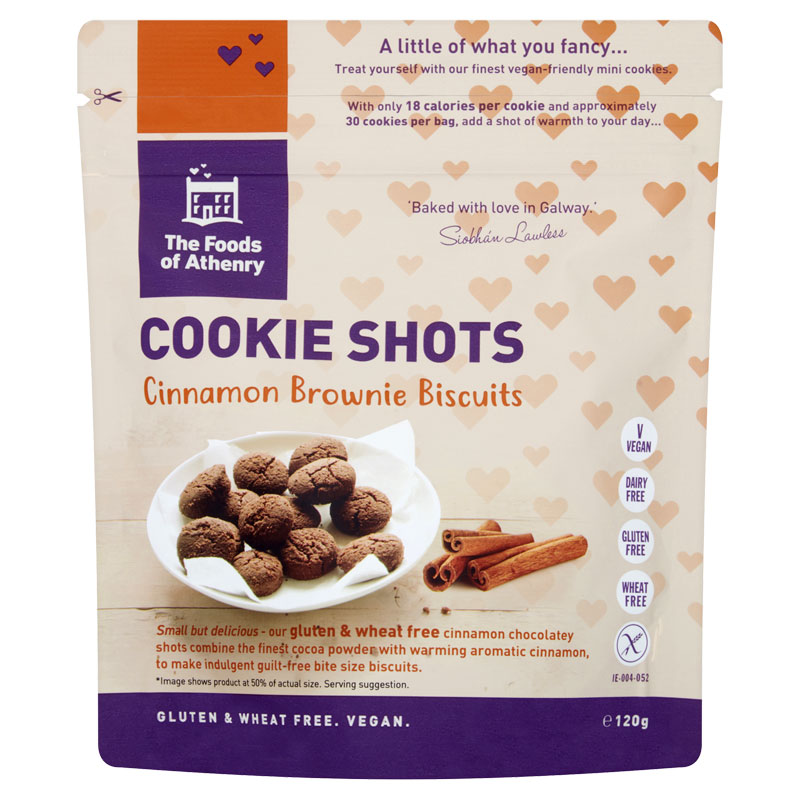 Gluten Free Cookie Shots 'Cinnamon Brownie' Case of 12