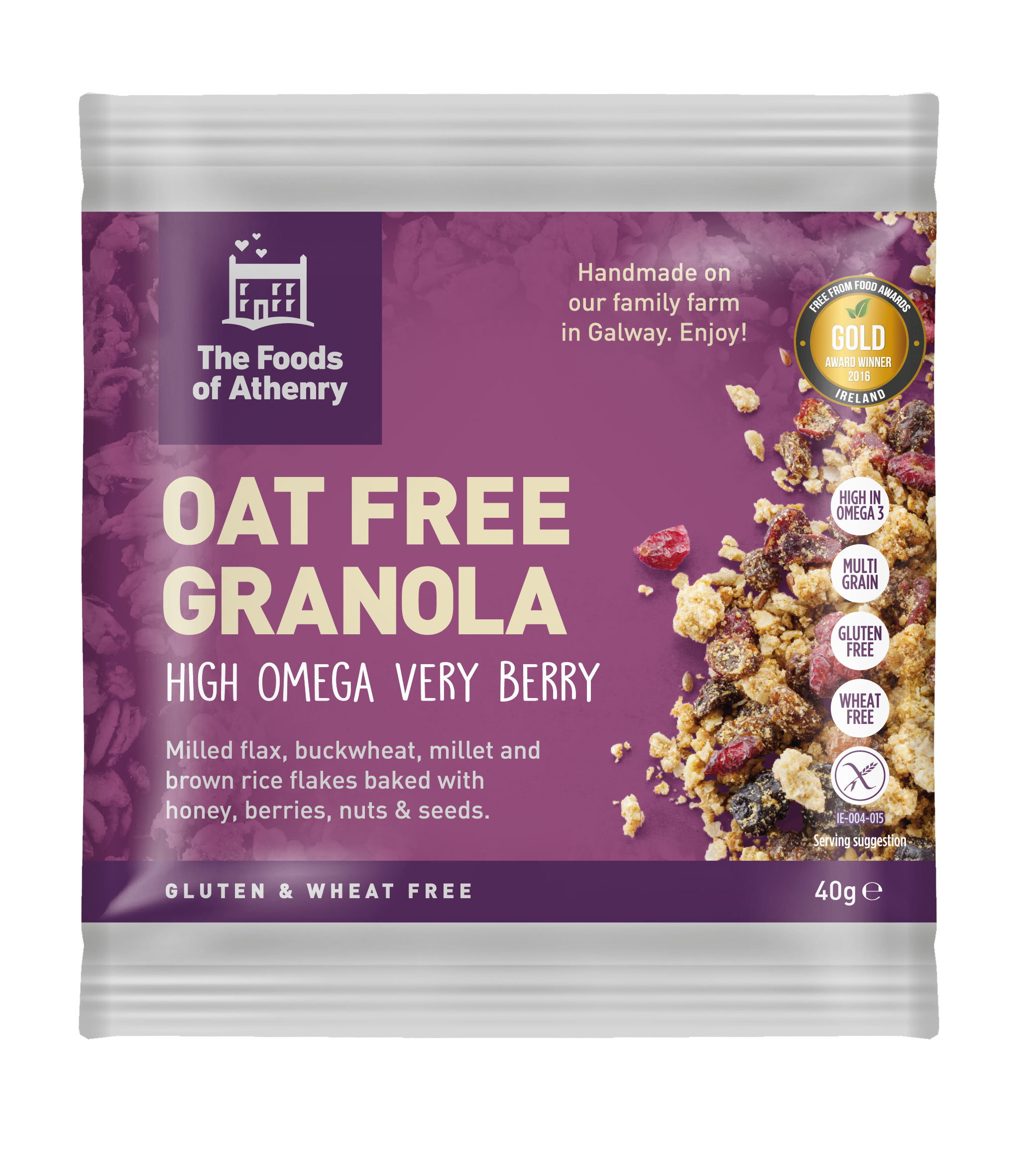 Cereal: Oat Free Granola - Gluten Free Very Berry High Omega