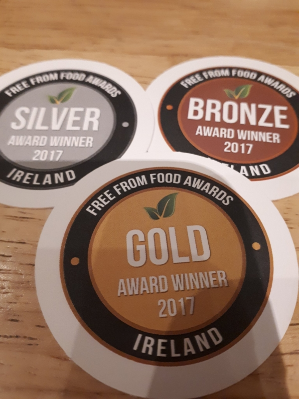 Gold, silver & bronze at the Free From Food Awards 2017