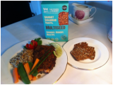 Baked Salmon Fillet topped with Multiseed Toasts Crumb